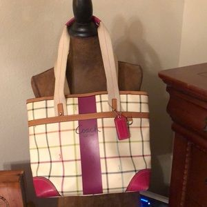 Coach Plaid Handbag